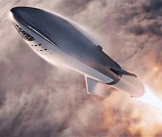 SpaceX公布火箭太空船概念图