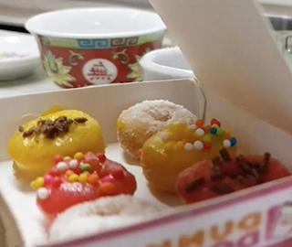迷你甜甜圈好吃不胖 每个仅指尖大小