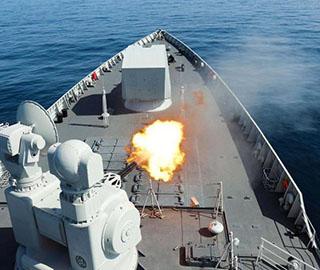 中国海军第三十六批护航编队实战训练
