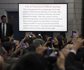 加拿大温哥华市就歧视华人历史正式道歉