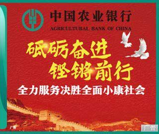 农业银行全力服务决胜全面小康社会