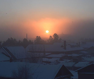 """漠河温度低至-45℃ 出现""""冰雾""""天气"""
