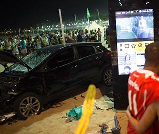 巴西汽车冲撞人群 至少15人受伤