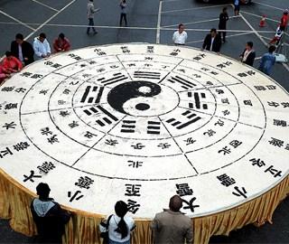 """3吨半豆腐打造巨型""""二十四节气""""图"""