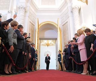 俄罗斯当选总统普京就职典礼举行