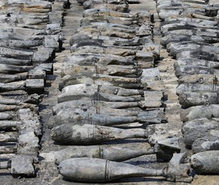 泰国曼谷一工地现上百枚美制BDU-33炸弹