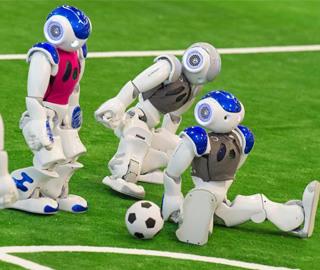"""机器人世界杯举行 角逐""""金靴""""战况激烈"""