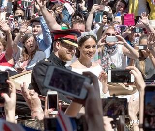 哈里王子婚礼掠影 新人乘马车巡游