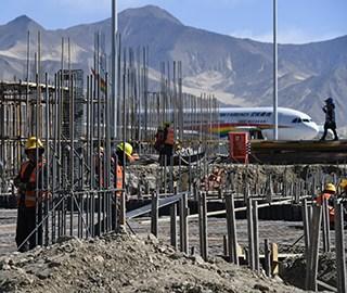 拉萨贡嘎机场改扩建工程进展顺利