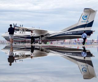 大型水上飞机AG600亮相飞行大会