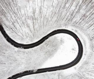 欧洲多地迎降雪降温天气