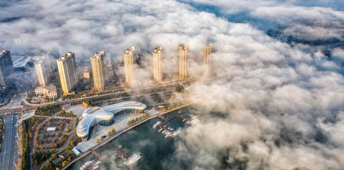 醉美!航拍江西武宁县平流雾美景 犹如仙境