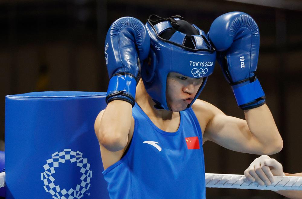 谷红晋级东京奥运会拳击女子沉量级决赛