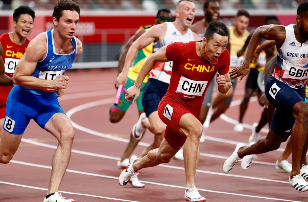中国队获东京奥运会男子4x100米接力第四