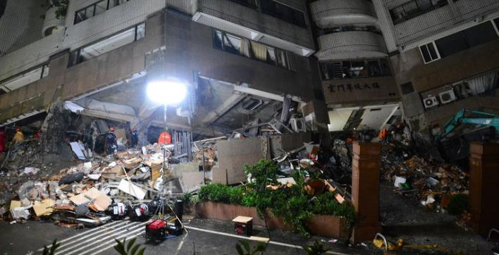 台湾花莲已完全恢复供水 云翠大楼日夜赶工开拆