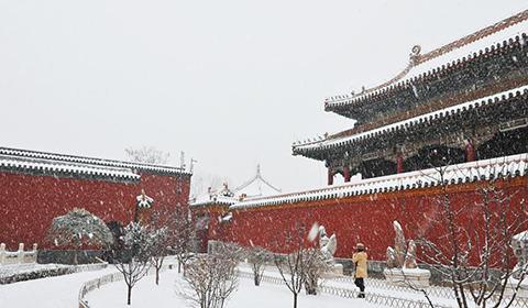 2016年12月8日,辽宁省沈阳市,一场大雪将拥有300多年历史的沈阳故宫变得银装素裹美不胜收。