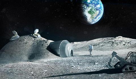 欧洲航天局9月22日发布3D打印月球基地效果图。预计到2040年,将有100人生活在月球上,融冰为水,3d打印房屋和生活工具。