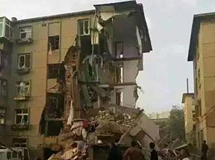辽宁葫芦岛一居民楼发生爆炸部分坍塌