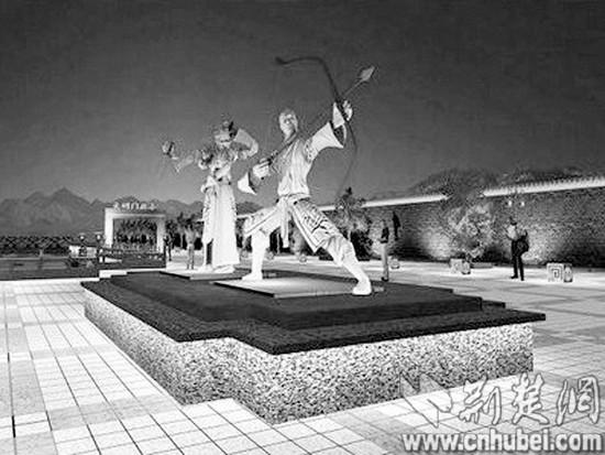 湖北襄阳斥资百万建郭靖黄蓉雕像引热议(图)