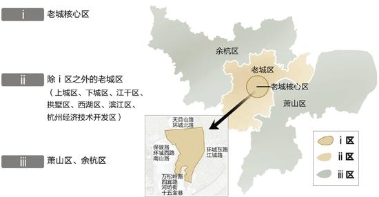 杭州城区地图划分图