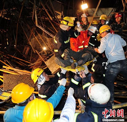 广东云浮一在建工地坍塌致2人遇难3人受伤