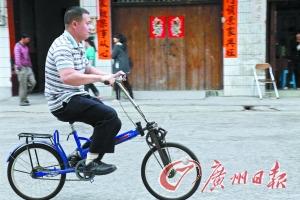 打工仔设计手驱自行车 手脚并用能增速30%(图)