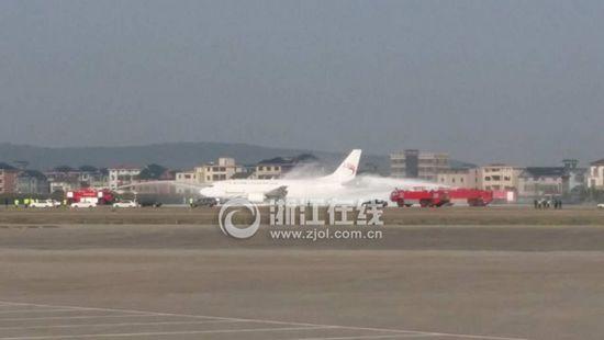 杭州萧山机场一飞机安全迫降 影响部分航班(图)