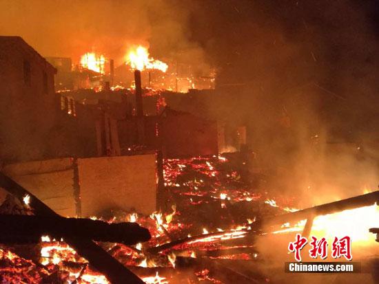 贵州剑河温泉村发生一路寨火