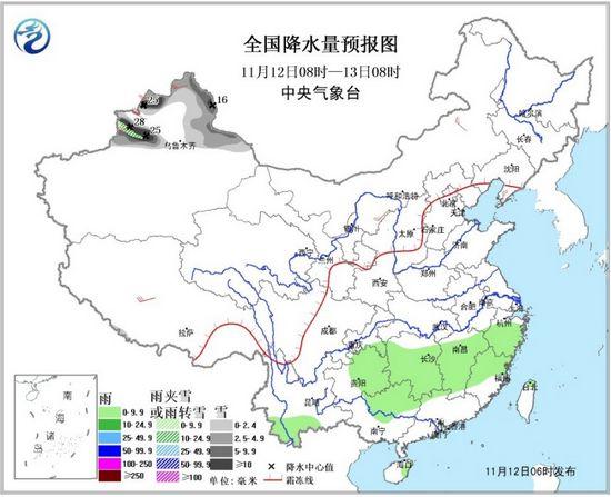 新疆北部仍有降雪云南贵州广西等地局部有雨