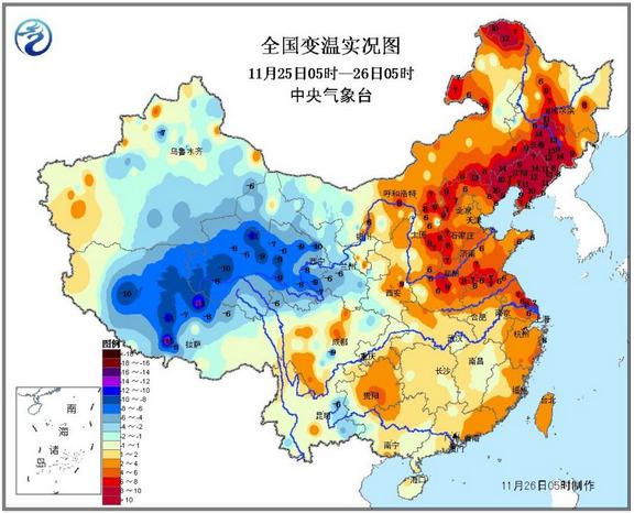 中国大范围寒潮过程结束东北、华北等地升温明显