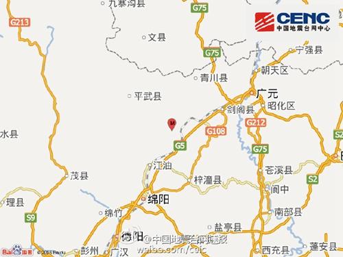 四川江油市发生3.1级地震震源深度19千米