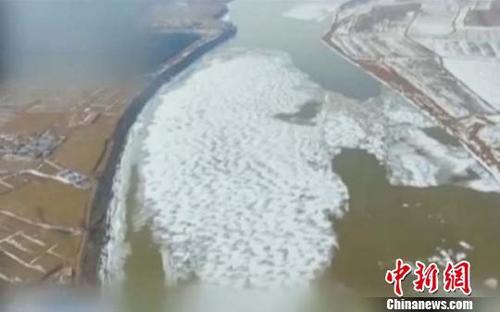 黄河进入封河期 内蒙古段封河6千米