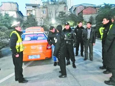 武汉一男子无证驾套牌出租车第5次被查曾4次被拘