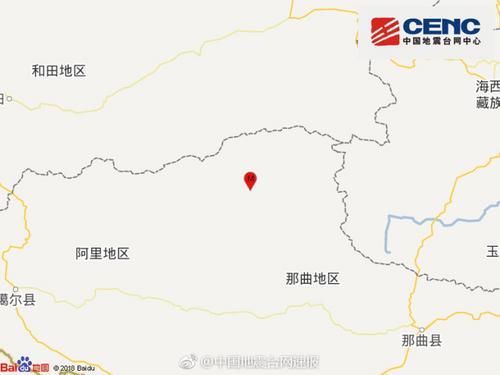 西藏那曲地区双湖县发生4.5级地震 震源深度6千米