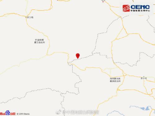 新疆巴音郭楞州若羌县发生4.2级地震震源深度7千米