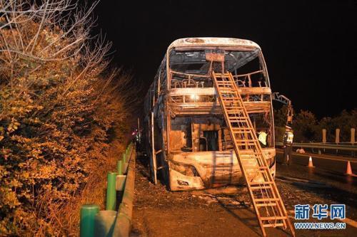 湖南高速一旅游大巴起火致26死28伤伤者病情好转