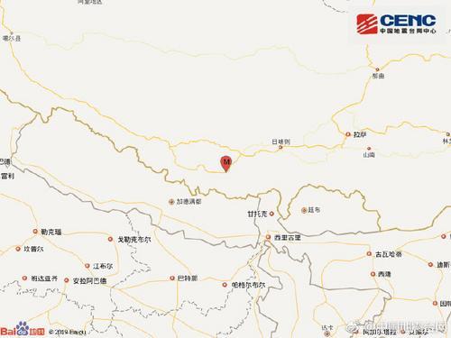 西藏日喀则市定日县发生3.6级地震震源深度5千米