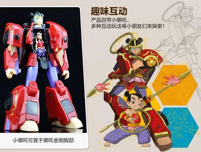 哪吒与变形金刚英雄人物玩具上线:可变形,售价169元