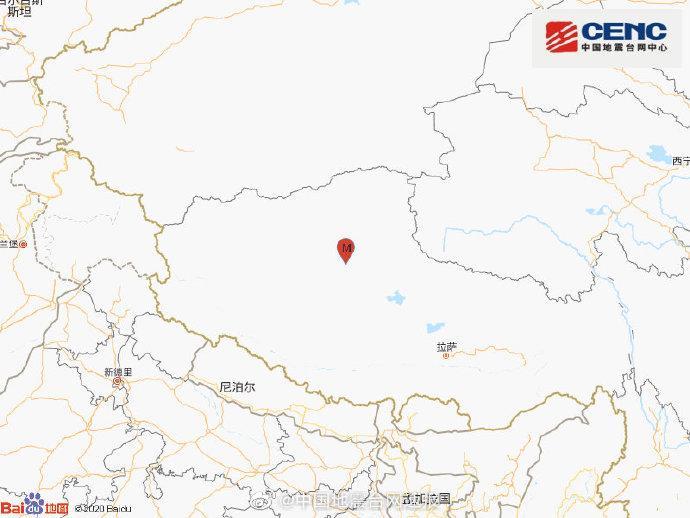 西藏那曲尼玛发生6.6级地震暂无人员伤亡报告