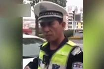 """交警""""李云龙式""""执法太帅"""