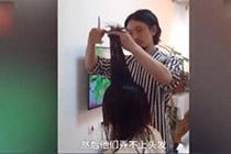 理发师春节回家 亲戚排队来理发