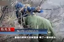 男子爬山被困7天 靠一件军棉大衣保住性命