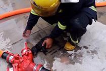 消防员火场救出5只小奶狗