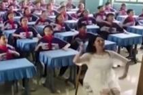 老师创新课间活动 自编创意舞蹈走红