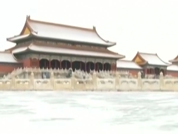 """""""幕纱""""薄覆紫禁城 故宫雪景美如画"""