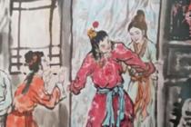 """画家绘制5000多米""""红楼梦""""画卷"""