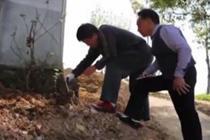 村民家在山坡上 气象局免费装防雷设施