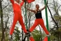 大爷健身队锻炼视频走红网络