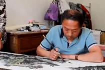 六旬农民身残志坚 14年苦练成画家