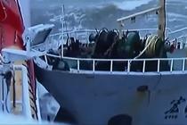 嚣张走私船撞击海巡船视频曝光